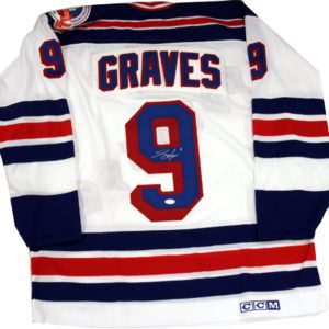 Adam Graves New York Rangers 1994 Replica White Jersey (Signed on Back)