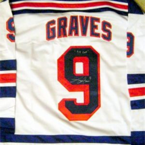 Adam Graves Signed Jersey - Home White inscribed 94 Cup