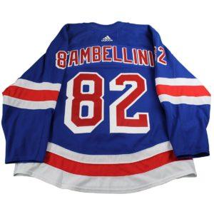 Adam Tambellini New York Rangers 2017-2018 Pre-Season Game Used #82 Blue Jersey (Size 58)