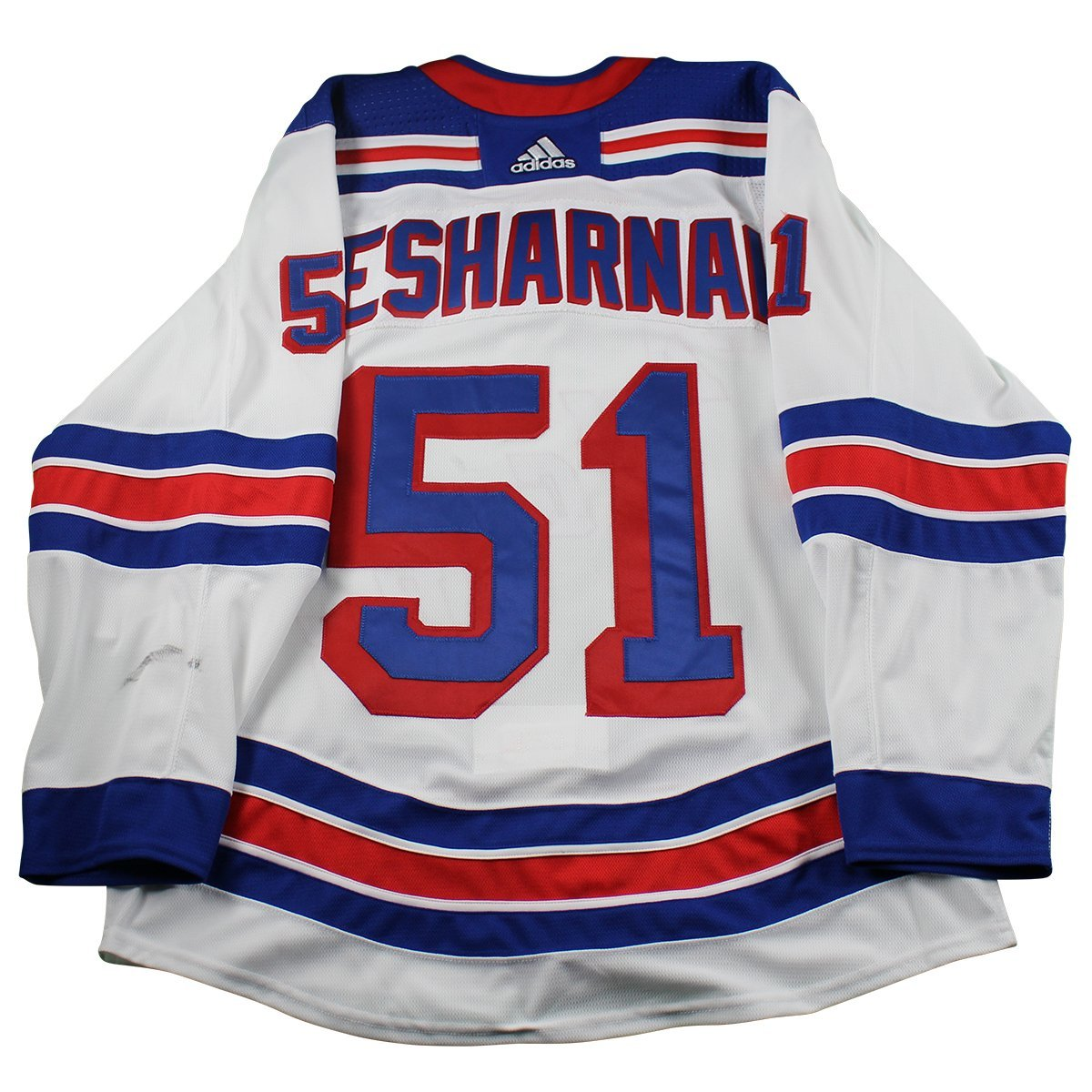 the best attitude a456c 7c4a2 David Desharnais New York Rangers 2017-2018 Pre-Season Game Used #51 White  Jersey (Size 52)