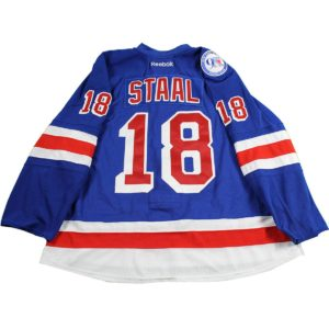 Marc Staal New York Rangers 2016-2017 Game Used #18 Blue Jersey w/ 90th Anniversary Patch (Set 1 10/17/16- 11/29/16)(Size 58)