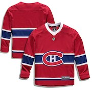 Montreal Canadiens Fanatics Branded Youth Home Replica Blank Jersey - Red