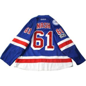 Rick Nash New York Rangers 2016-2017 Game Used #61 Blue Jersey w/ 90th / 100th Anniversary Patches (Playoffs Rounds 1 & 2)(56)(1/3)