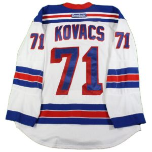 Robin Kovacs New York Rangers 2016-2017 Pre-Season Game Used #71 White Jersey (Size 56)