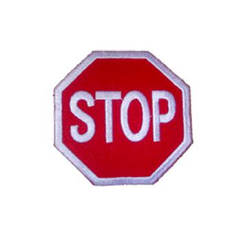 Stop Sign Hockey Jersey Patch