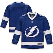 Tampa Bay Lightning Fanatics Branded Youth Home Replica Blank Jersey - Blue