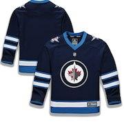 Winnipeg Jets Fanatics Branded Youth Home Replica Blank Jersey - Blue