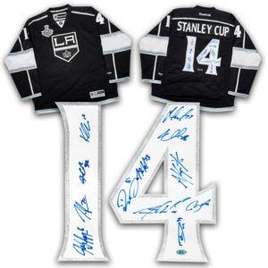 2014 Los Angeles Kings 12 Player Team Signed Stanley Cup Hockey Jersey LE#/14