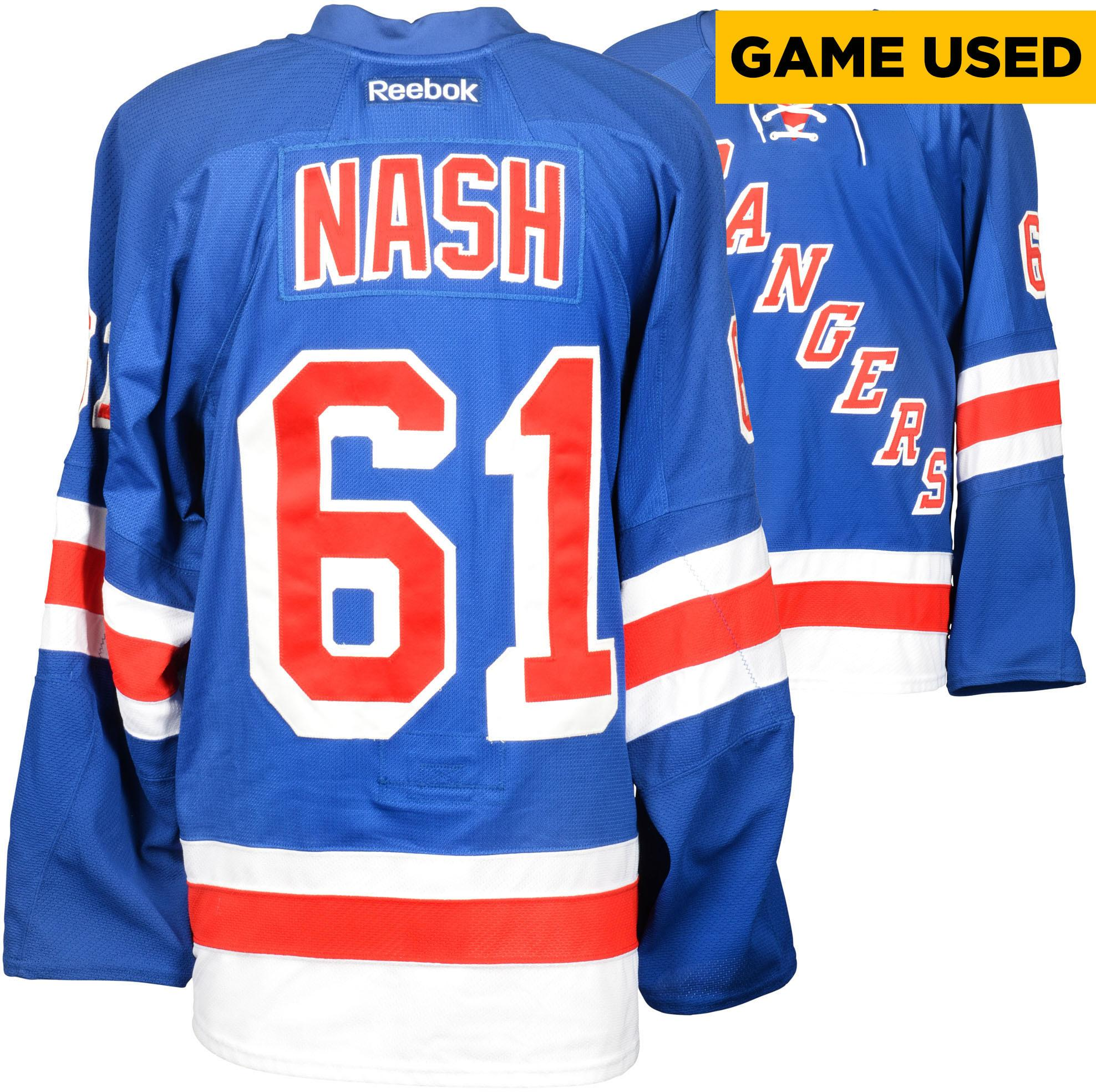 Rick Nash New York Rangers Game-Used Rangers Blue Jersey From The 2014-2015 Season - Fanatics Authentic Certified