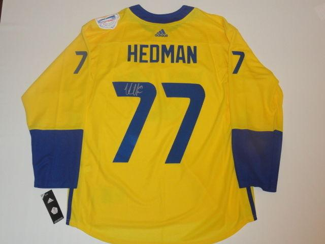 info for aee3c ed2bb Victor Hedman Signed Jersey - 2016 Team Sweden World Cup Of Jsa Coa