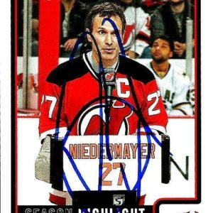 2013 Panini Score Scott Niedermayer NEW JERSEY DEVILS Signed Auto Trading Card - Panini Certified