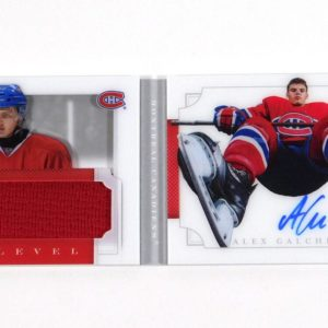 2013-14 Panini Dominion Alex Galchenyuk Ice Level Booklet Jersey OnCard Auto /50 - Panini Certified