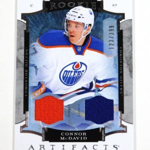 2015-16 Artifacts Connor McDavid Rookie Dual Jersey #123/399