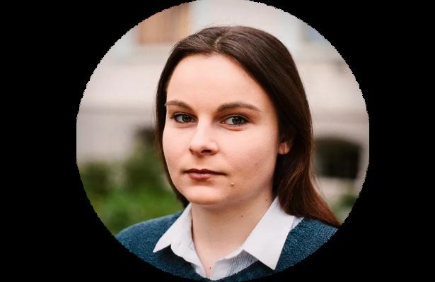 Circular photograph of Yana Savchuk, WTHA Journalist, Chernivitsi, Ukraine