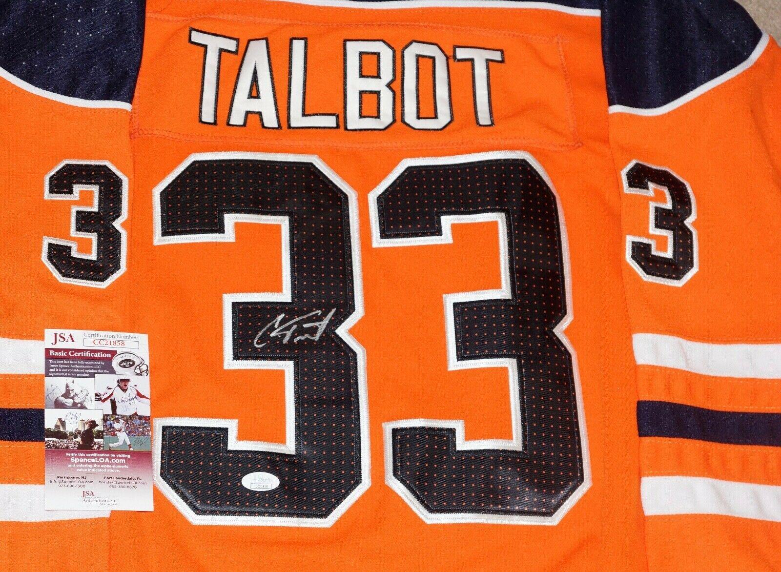 best service 6676d 209f4 Signed Cam Talbot Jersey - #33 + JSA COA #CC21858