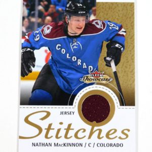 2013-14 Fleer Showcase Nathan MacKinnon Stitches Jersey