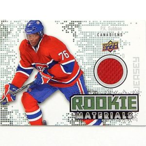 2010-11 Upper Deck Rookie Materials P.K. Subban #RM-PS Jersey Relic