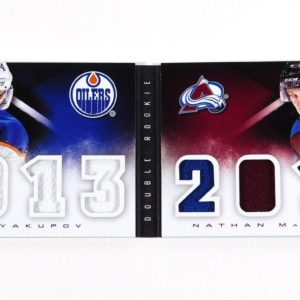 2013-14 Panini Playbook Yakupov / MacKinnon Dual RC Booklet Classbook Jerseys