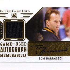 2015-16 ITG In The Game Used Tom Barrrasso Gold Auto Jersey /10