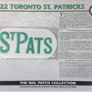 1922 Toronto St Patricks Patch NHL Hockey Willabee & Ward Official Jersey Patch