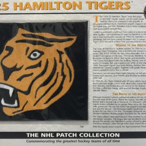 1925 Hamilton Tigers Patch NHL Hockey Willabee & Ward Official Jersey Patch