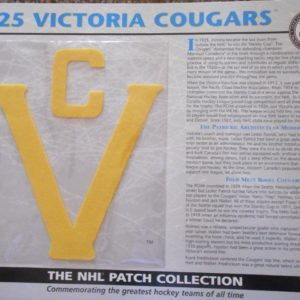 1925 Victoria Cougars Patch NHL Hockey Willabee & Ward Official Jersey Patch