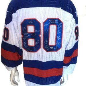 1980 Miracle hockey team signed USA jersey 20 auto Bob Suter Rare INS PSA LOA LE