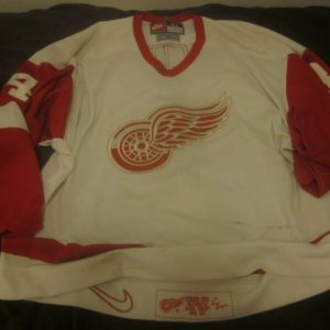 1998/1999 Detroit Redwings NHL Hockey Game Used Jersey #34 Jamie Macoun LOA
