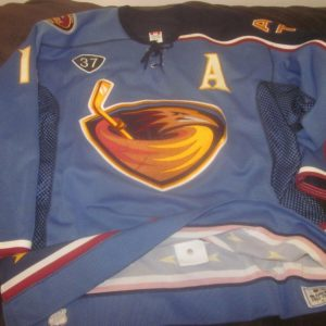 20003/2004 Atlanta Thrashers NHL Hockey Game Used Jersey #13 Slava Kozlov LOA