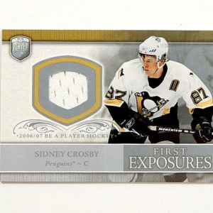 2006-07 Be A Player BAP Sidney Crosby First Exposure Jersey Relic