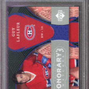 2007-08 Upper Deck Trilogy Honorary Swatches Guy LaFleur Jersey Graded Card PSA