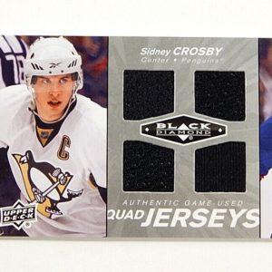 2010-11 Black Diamond Quad Jerseys Sidney Crosby 1 Color Game Used Quad