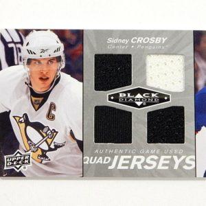 2010-11 Black Diamond Sidney Crosby 2 Color Quad Game Used Jersey