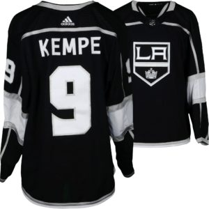 Adrian Kempe Los Angeles Kings Game-Used #9 Black Jersey from the 2018 NHL Playoffs - Size 56