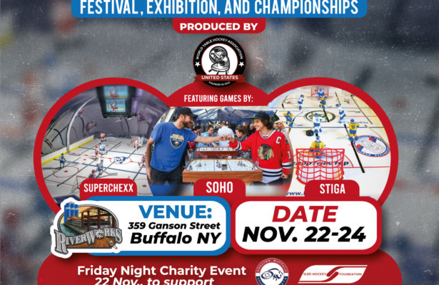 Poster advertising Buffalo's Table Hockey Festival, 22-24 November 2019