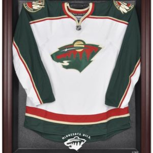 Minnesota Wild Mahogany Jersey Display Case