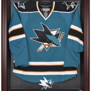 San Jose Sharks Mahogany Jersey Display Case