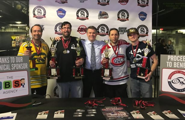 Photograph of Champions of Buffalo's Inaugural Table Hockey Festival, Nov. 24, 2019