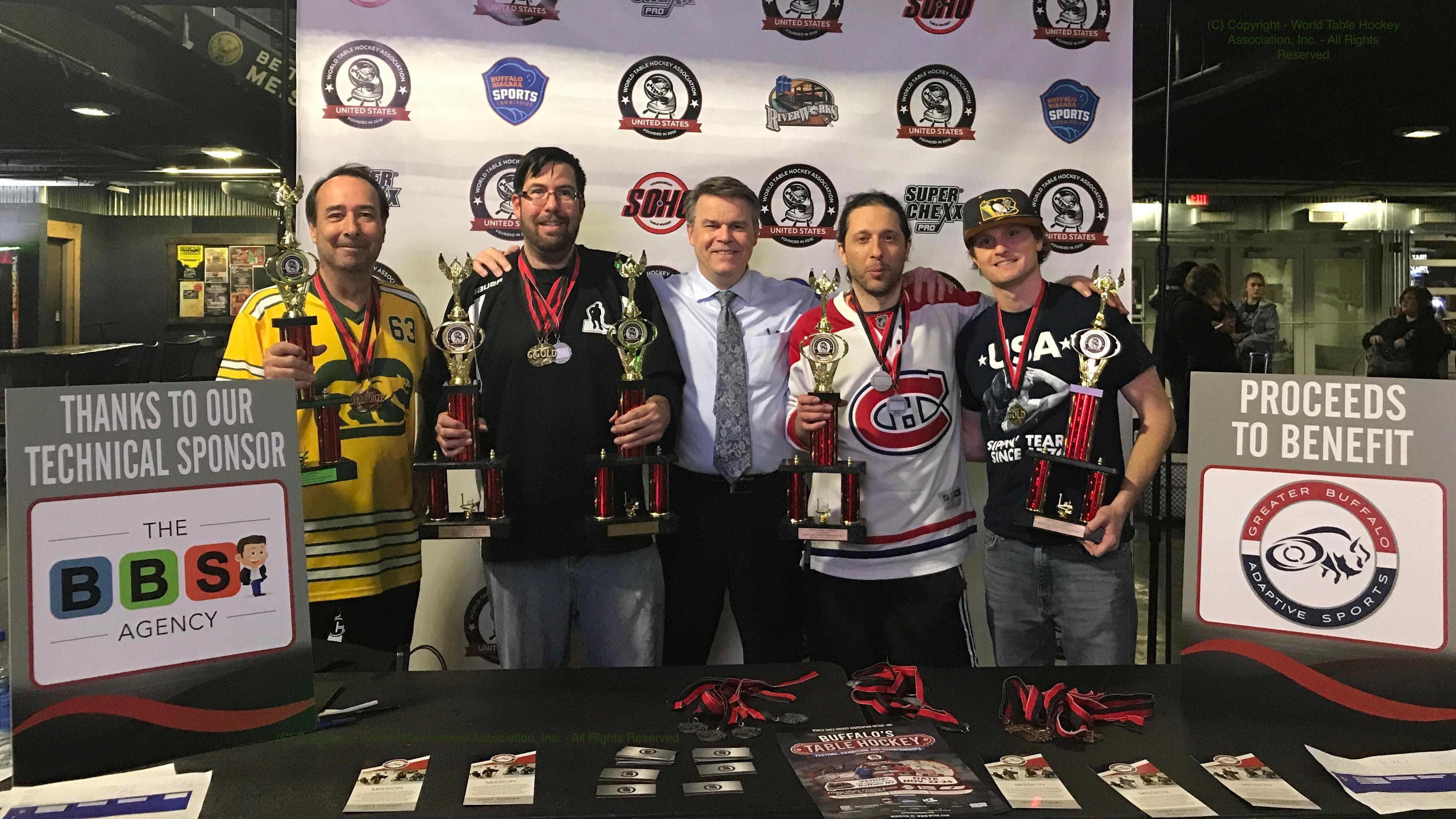 Photograph of Champions of Buffalo's Inaugural Table Hockey Festival, Nov. 24, 2019