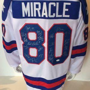 1980 USA Miracle hockey team signed jersey 20 auto Jim Craig Mike Eruzione JSA