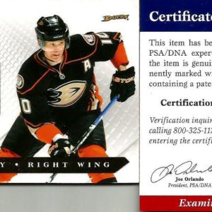 2011 Luxury Suite Corey Perry Anaheim Ducks Signed Auto Jersey Card PSA/DNA COA