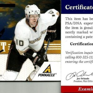 2011 Pinnacle Corey Perry Anaheim Ducks Signed Auto Jersey Card PSA/DNA COA