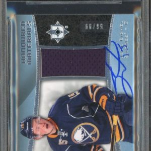 9865688 2015-16 Ultimate Honoured Jack Eichel RC /99 JERSEY Signed AUTO BGS BAS