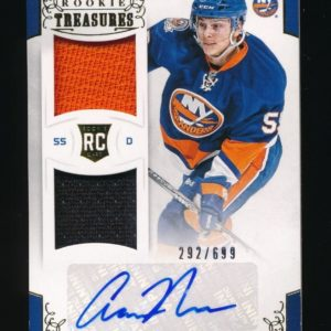 Aaron Ness 2012-13 Panini Rookie Anthology Dual Jersey Rc Auto 292/699 Islanders