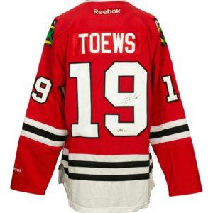 Jonathan Toews Signed Chicago Blackhawks Reebok Premier Hockey Jersey Fanatics