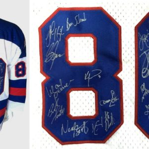 1980 USA Miracle hockey ENTIRE team signed INS jersey 20 auto BOB SUTER JSA