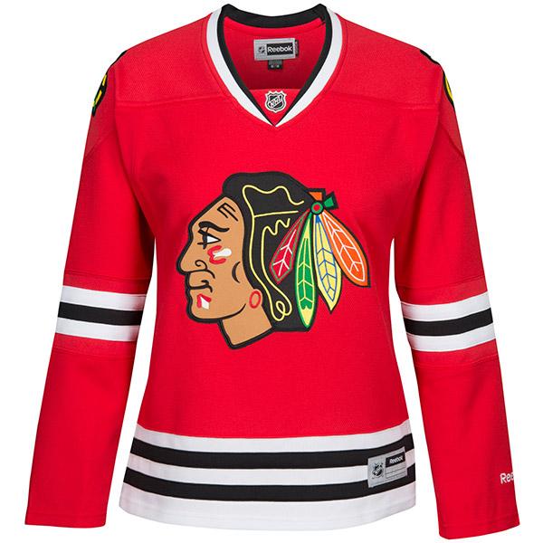 REEBOK 7214 Center Ice Premier Women's NHL Jersey- Chicago