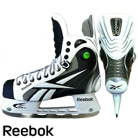 Reebok 6K White Pump Hockey Skates- Jr '11